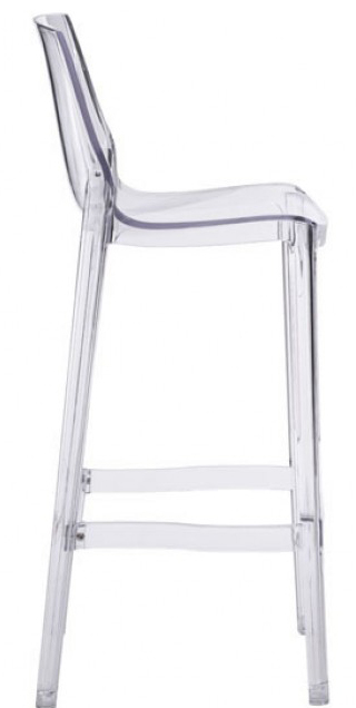 zuo phantom clear bar chair