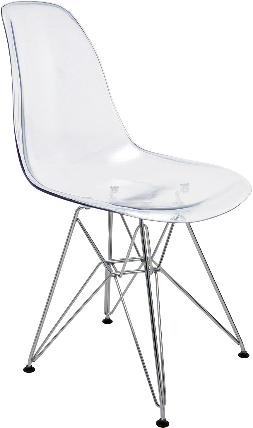 mid century inspired polycarbonate chairs