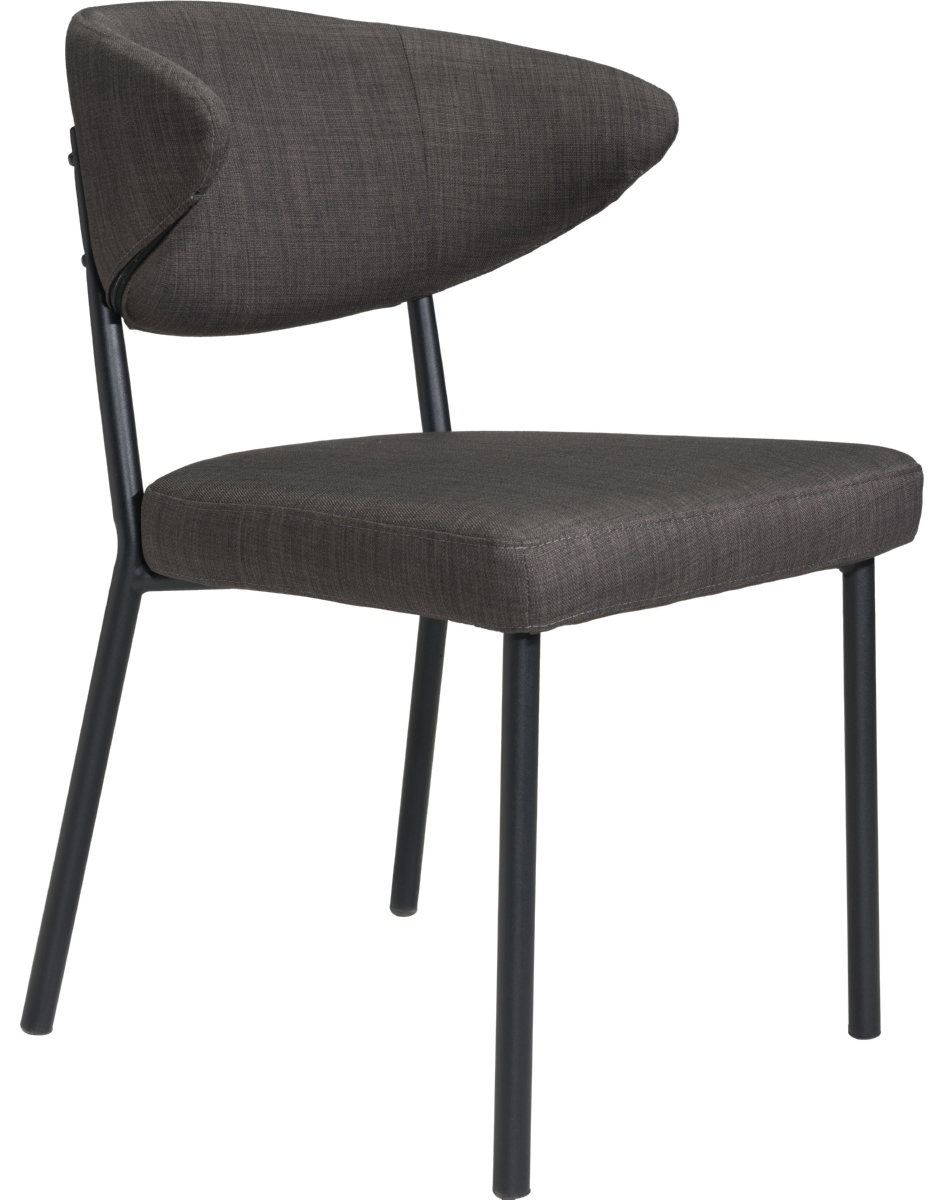 zuo pontus dining chair black