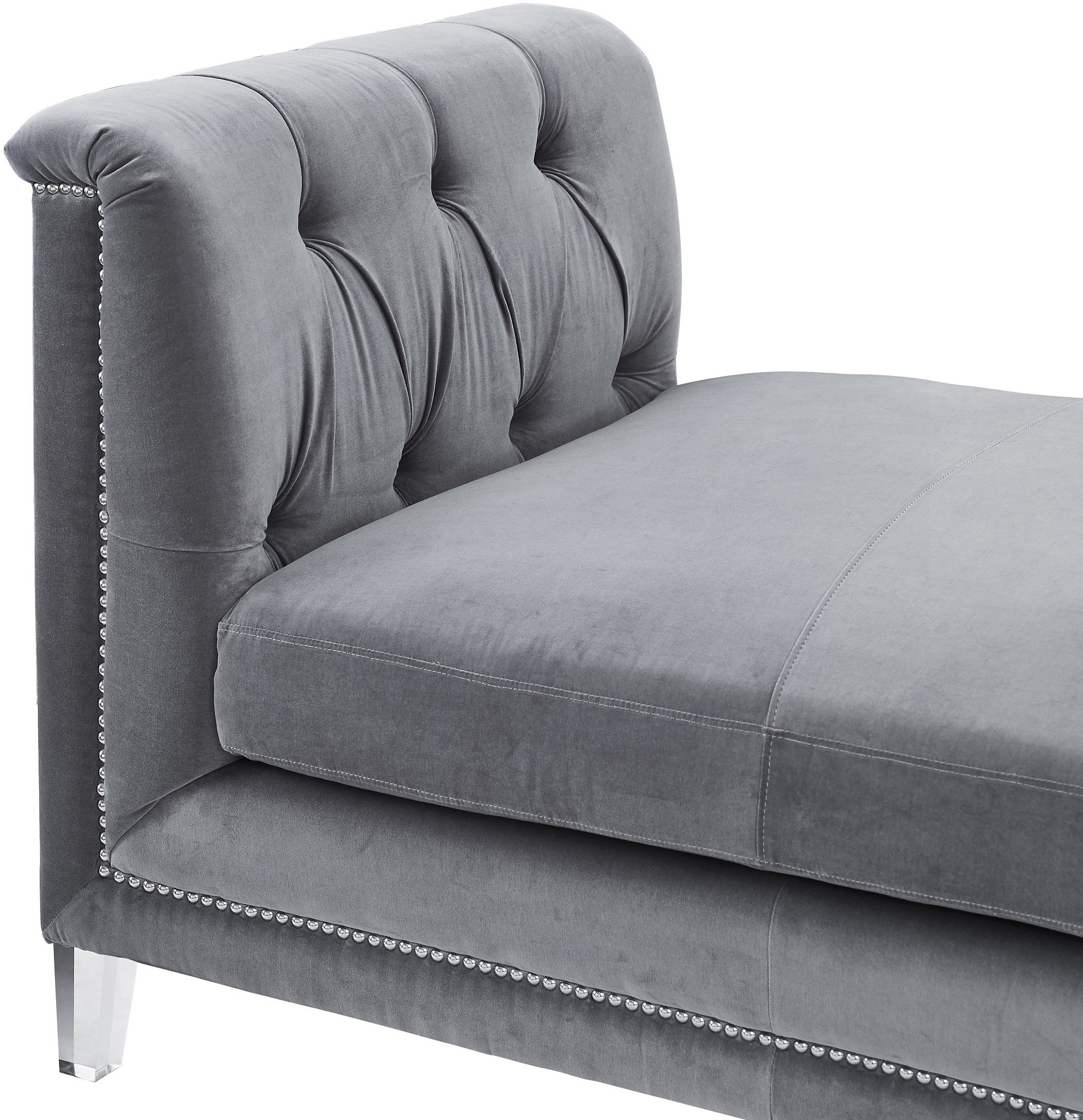 the grey velvet presidio bench daybed