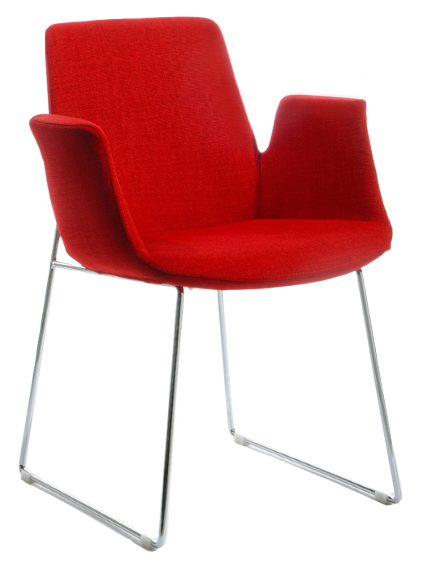 We've got a brand new red upholstered chair called The Mikah Red Upholstered Dining Chair available at AdvancedInteriorDesigns.com