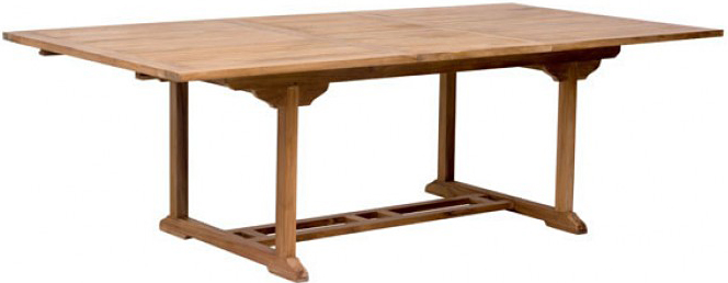 zuo regatta extension dining table natural