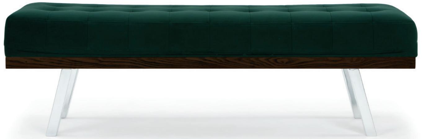 nuevo living rikard occasional bench emerald green