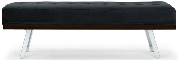 nuevo living rikard occasional bench shadow grey