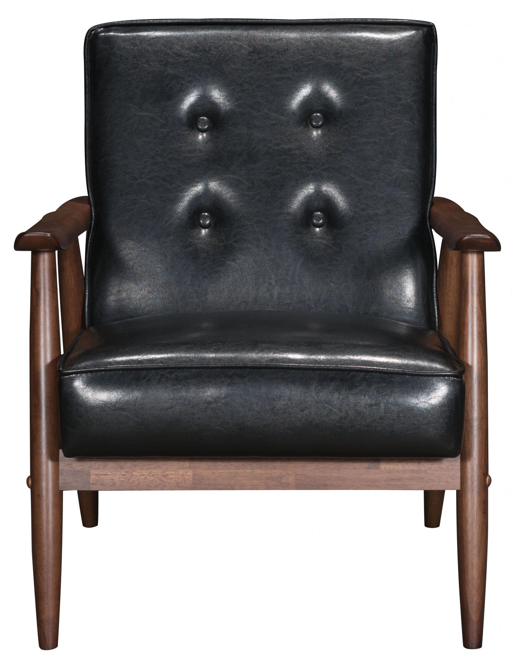 zuo rocky arm chair black