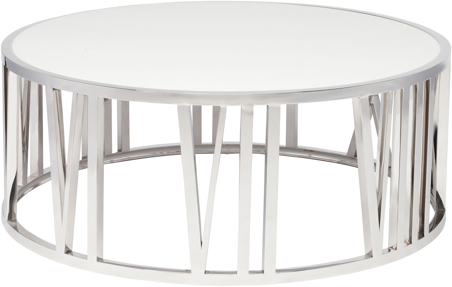 the roman coffee table stainless steel