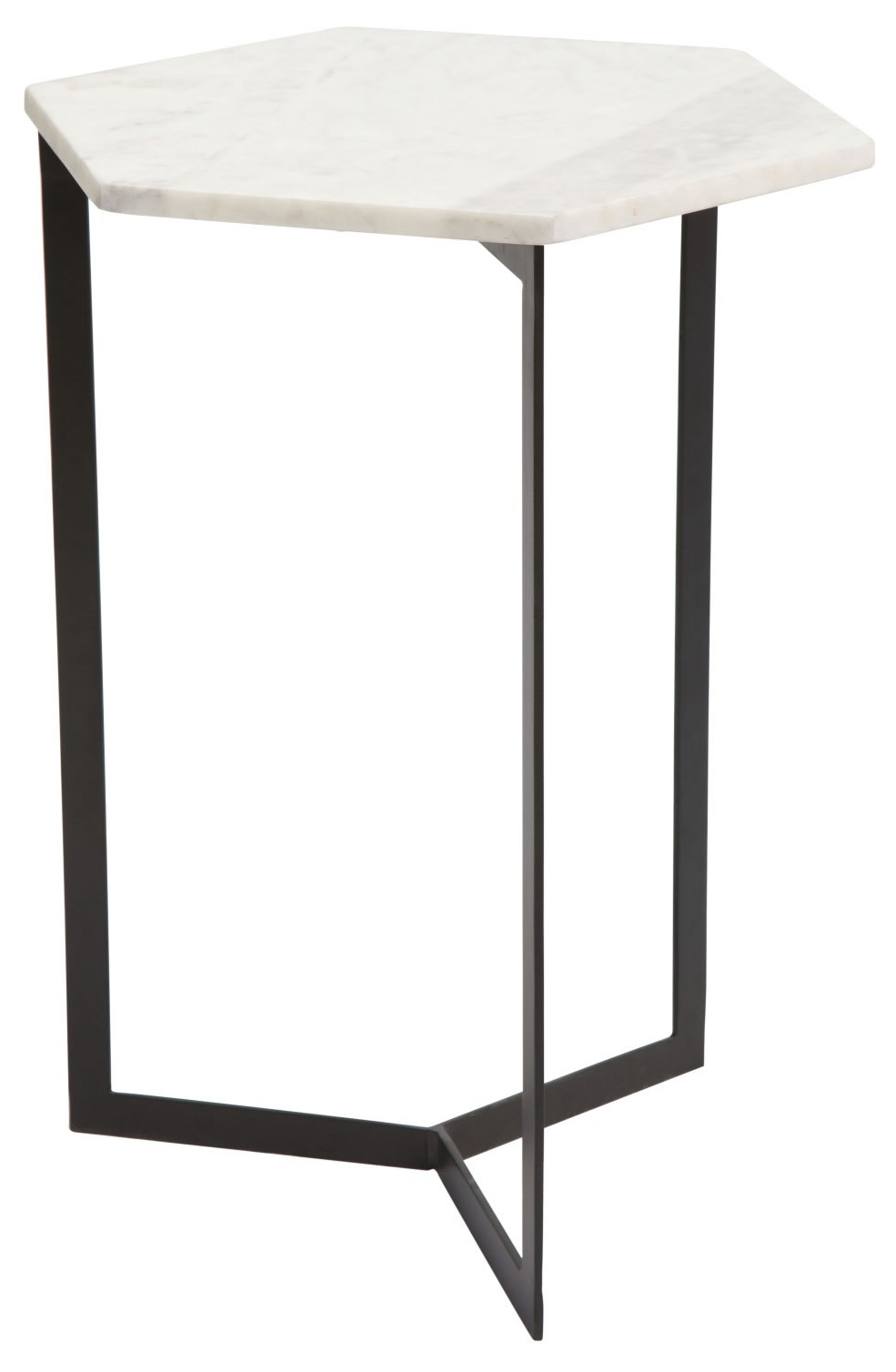 zuo modern rys accent table black white