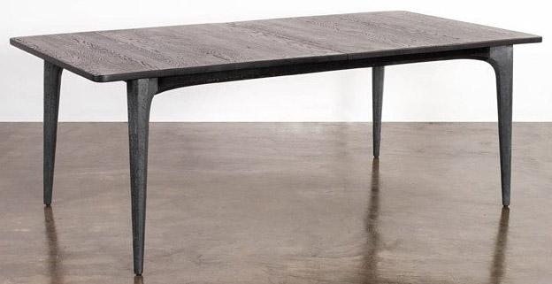 nuevo living salk dining table seared oak