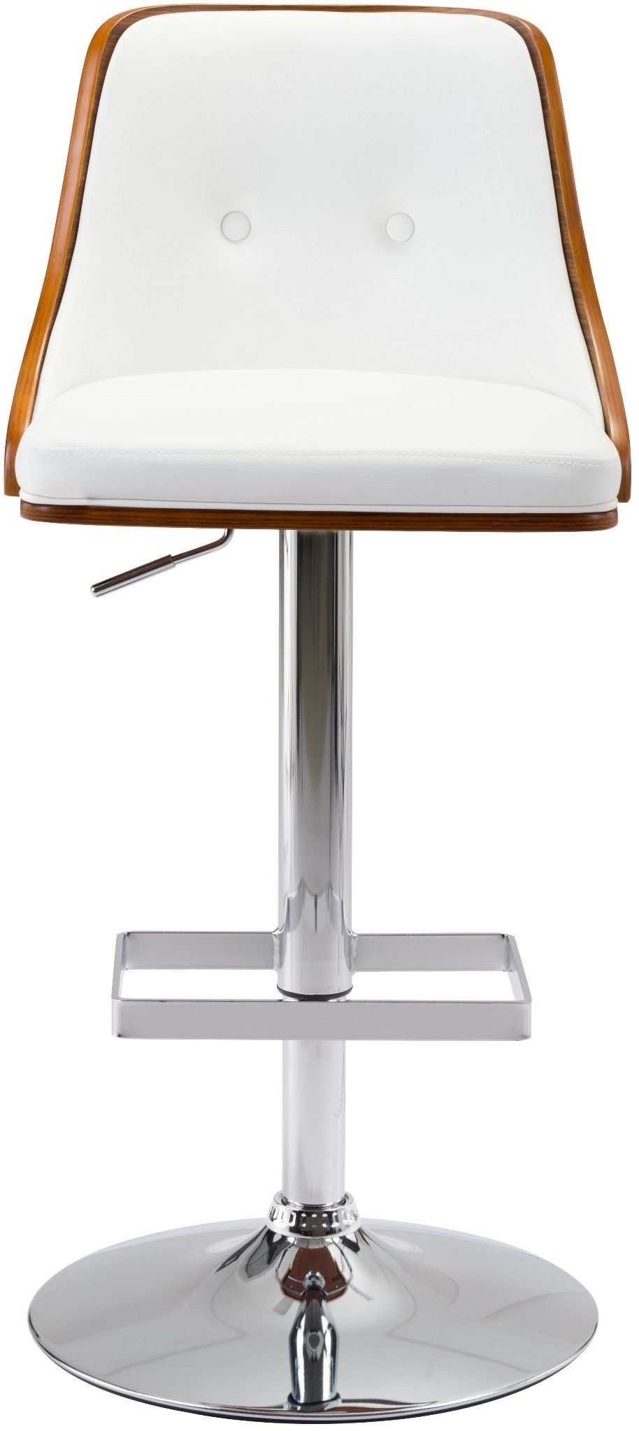 white scooter bar chair