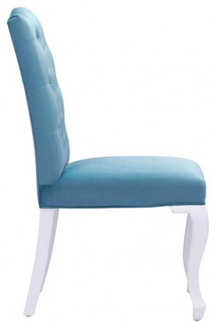 side profile of bourbon dining chair