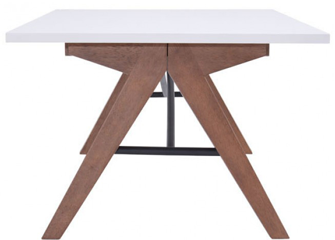 this is a side shot of the mid century saints table