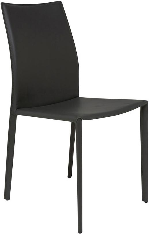 the nuevo sienna dining chair in dark grey