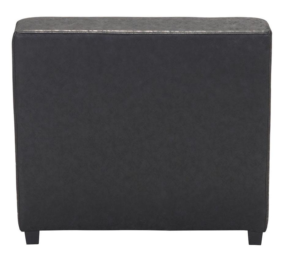 black soho single chair