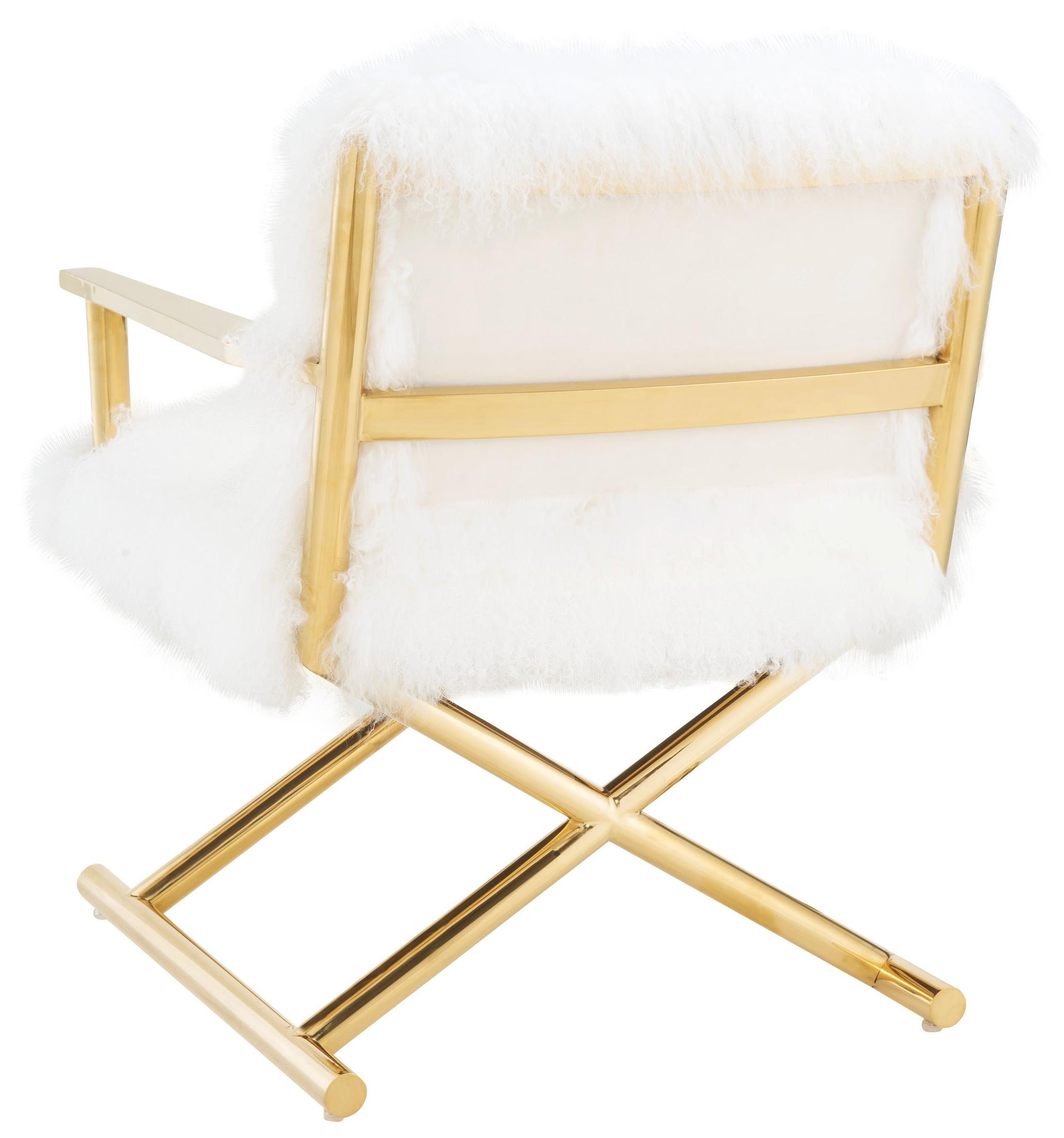 tov white sheepskin chair
