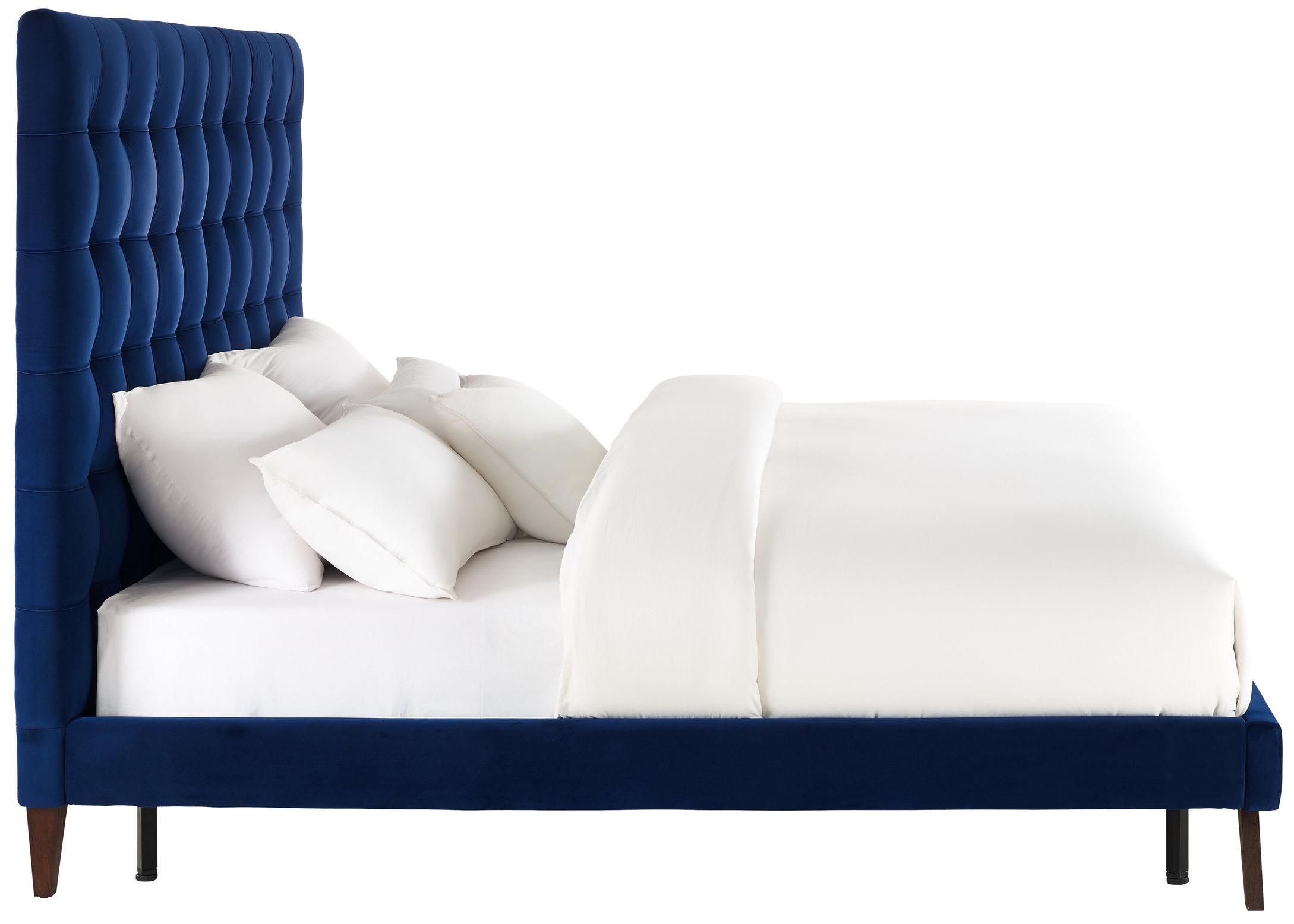 TOV Navy Velvet Bed Full Queen King