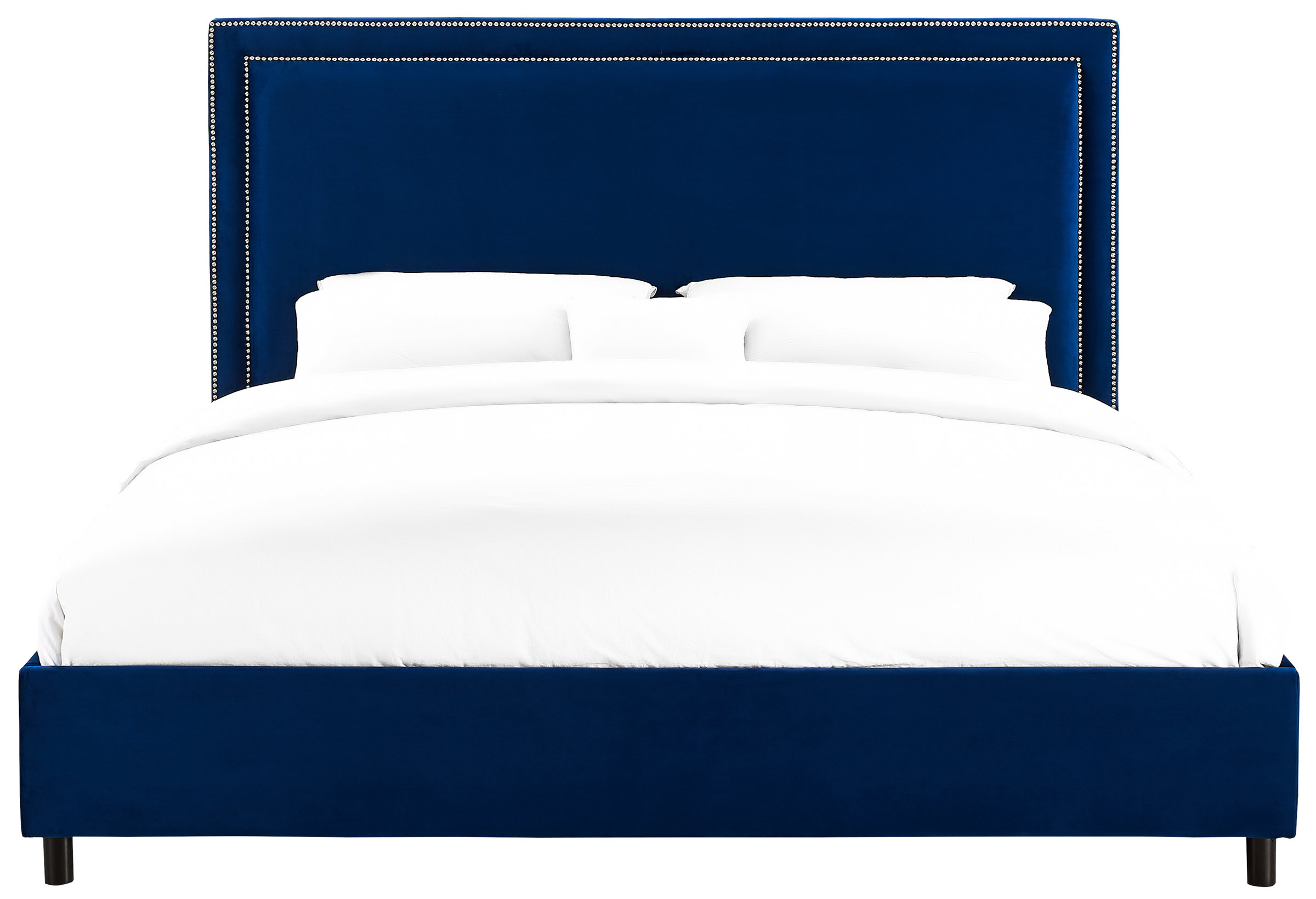 Velvet Navy TOV Bed