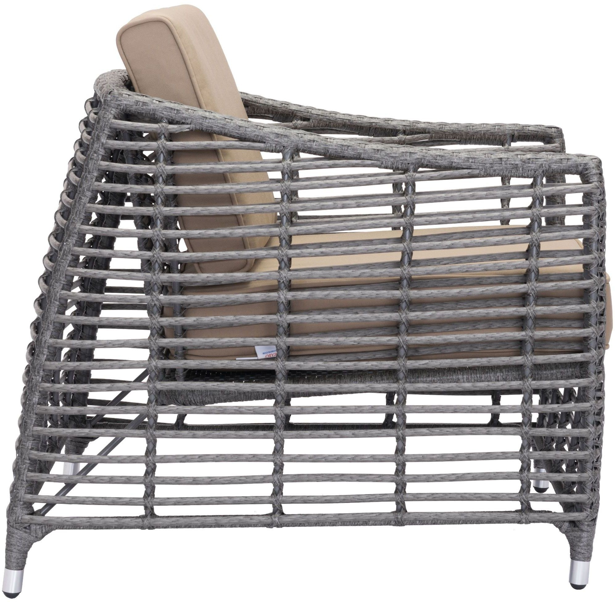 trek beach arm chair gray beige