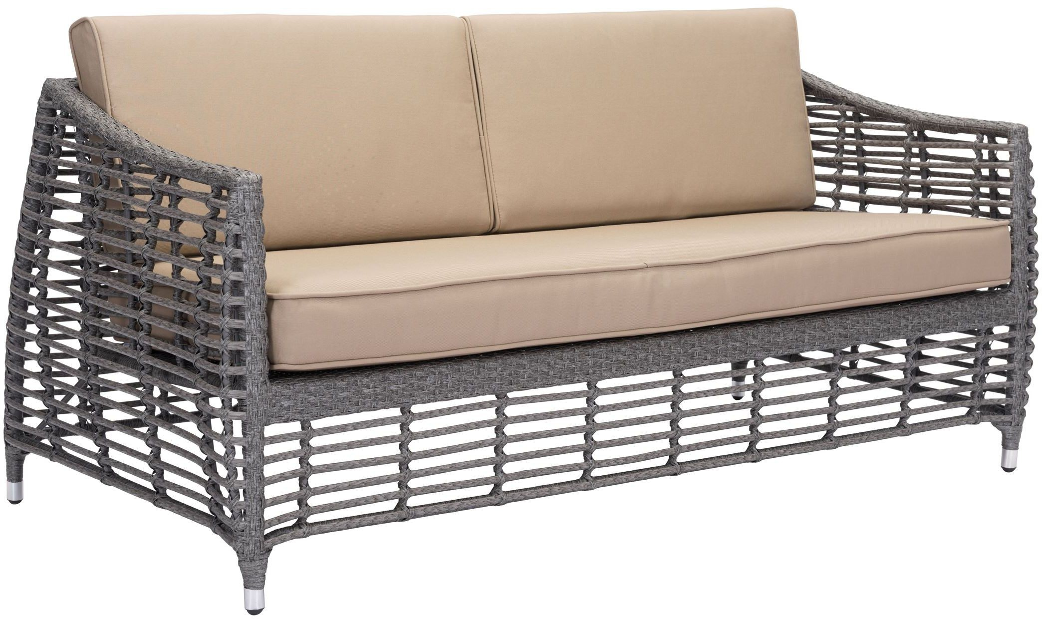 trek beach sofa gray beige