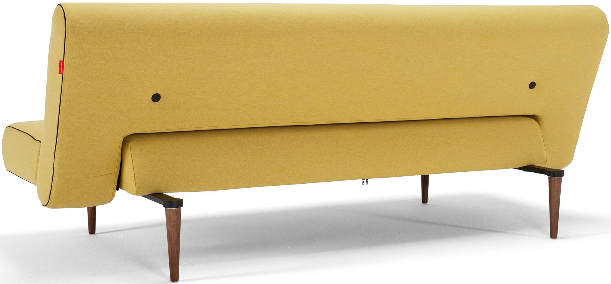 unfurl sofa bed mustard yellow