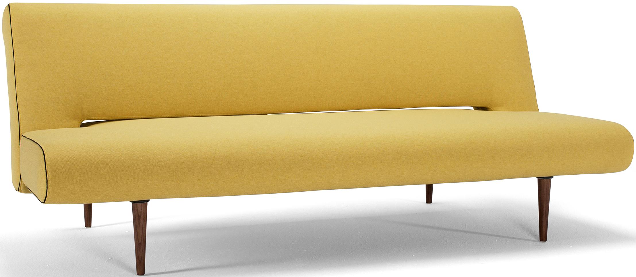 unfurl sofa bed soft mustard yellow