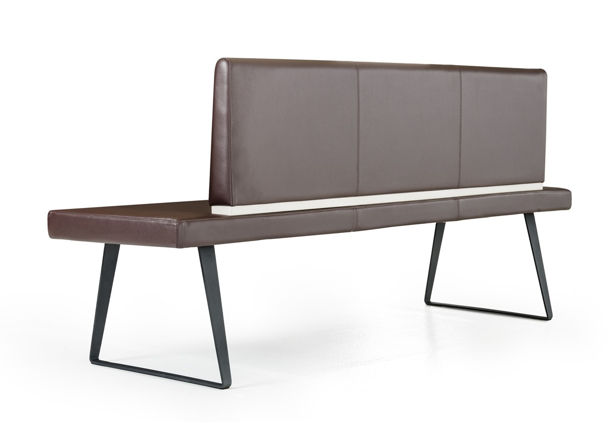 we've got a brand new upholstered dining room bench with back available at advanced interior designs