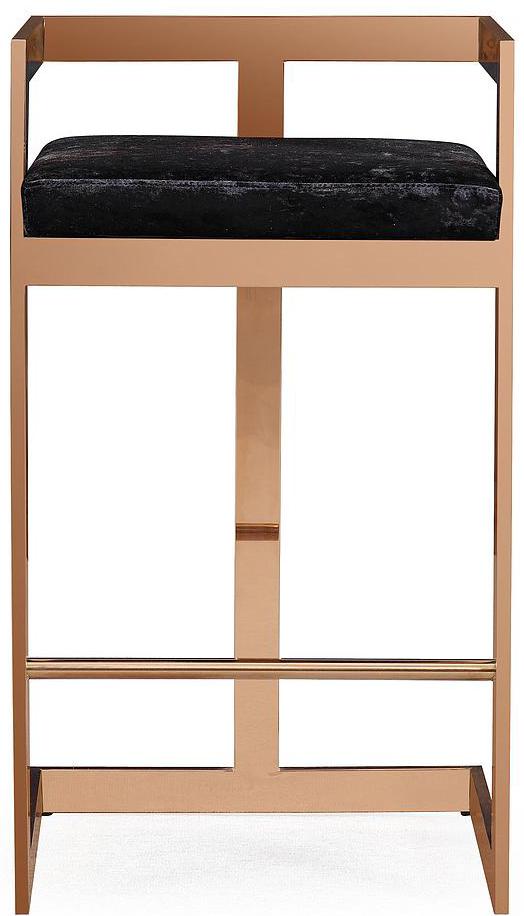valentina black velvet bar stool 1