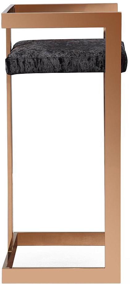 valentina black velvet bar stool 2