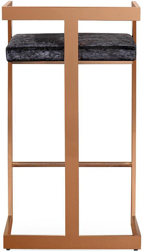 valentina black velvet bar stool 3