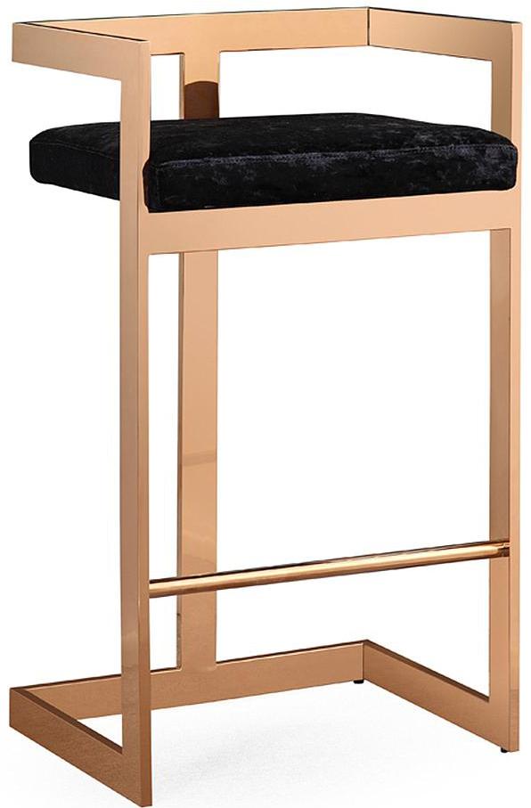 valentina black velvet bar stool