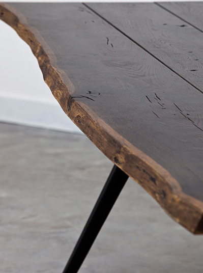 vega dining table live edge