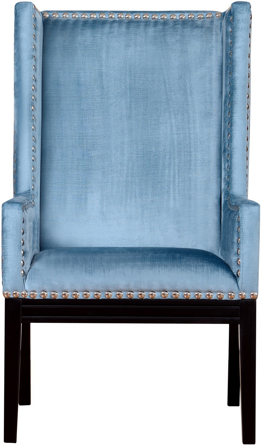 the velvet orianna arm chair in blue