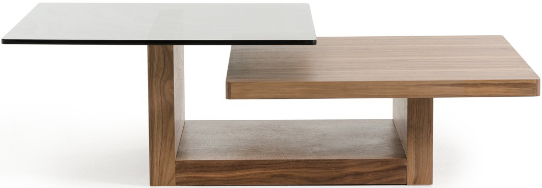 This walnut finish coffee table is a must have modern coffee table. Buy yours today!