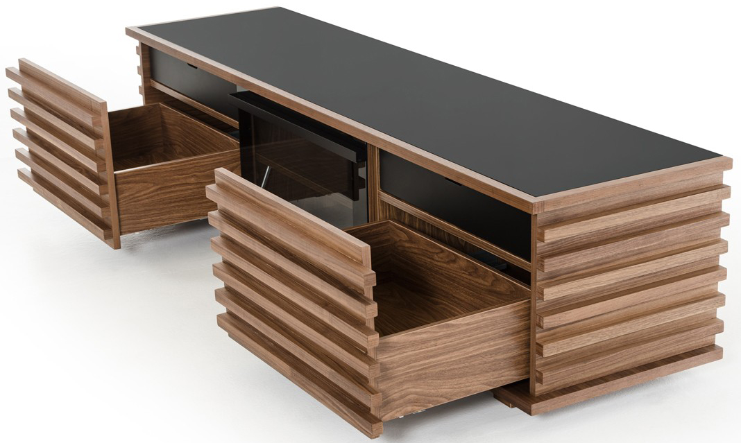 low priced walnut tv stand