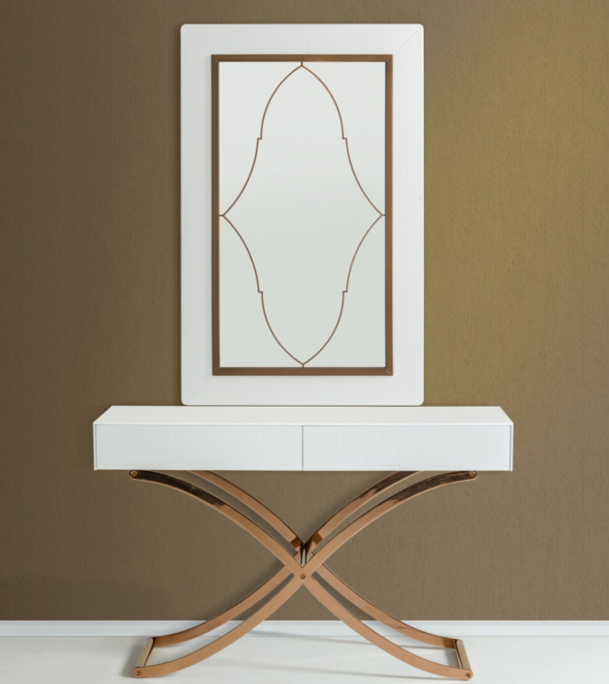 discount white console table