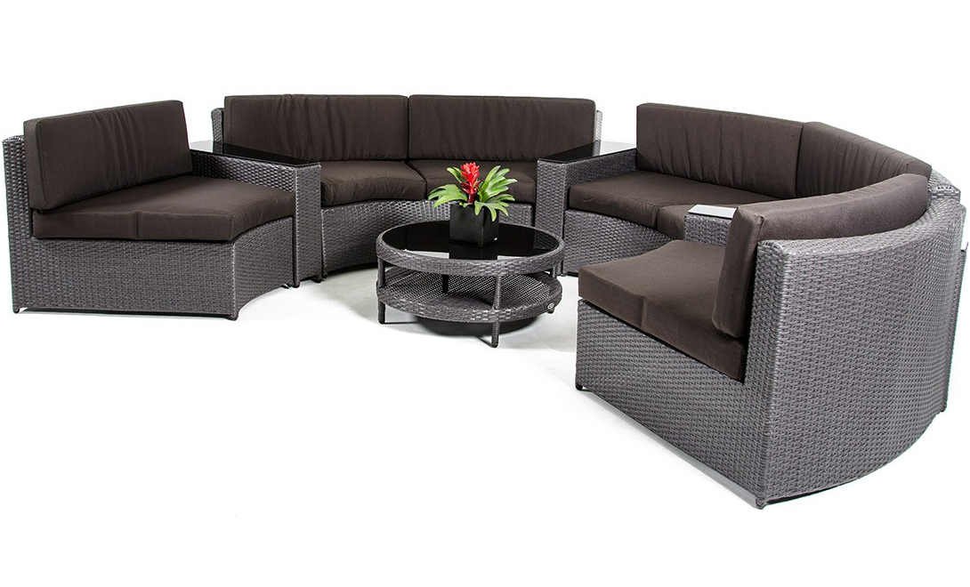low priced wicker patio sectional set