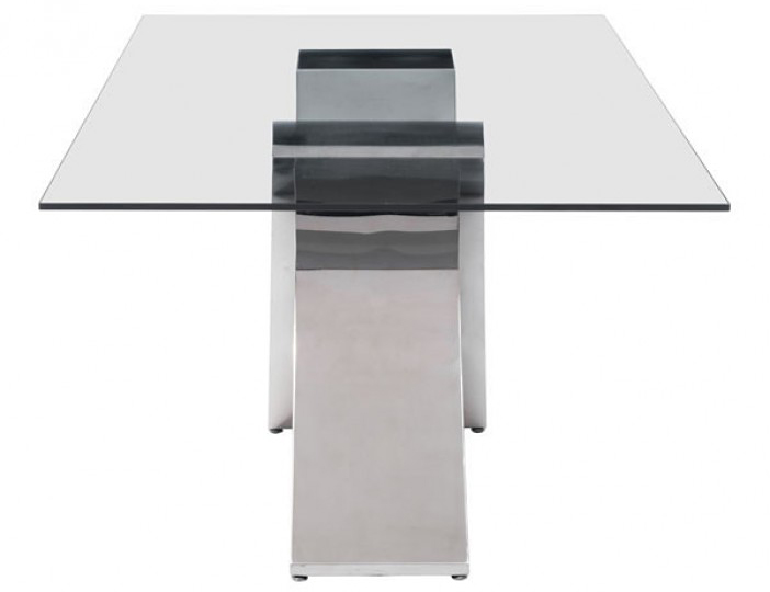 side view of the wave dining table