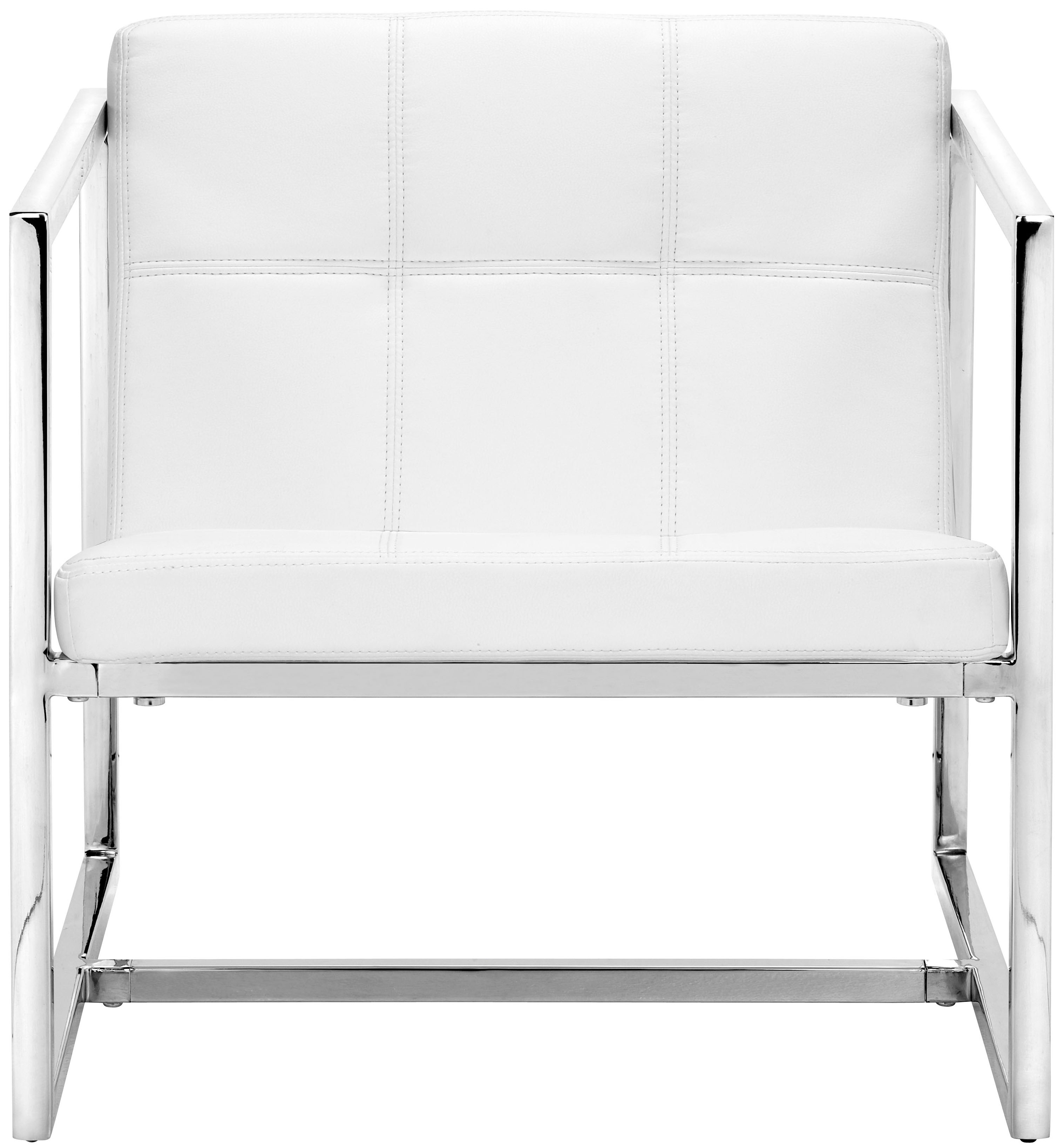 Carbon Chair White - Zuo 50074 Occasional Accent Chair