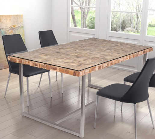 zuo mod collage dining table natural