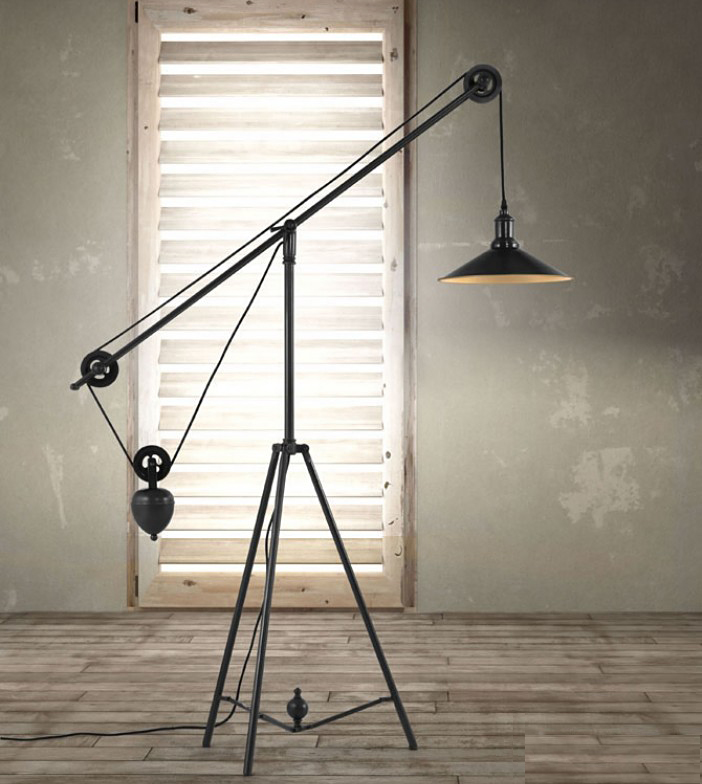 zuo modern jasper floor lamp antique black gold
