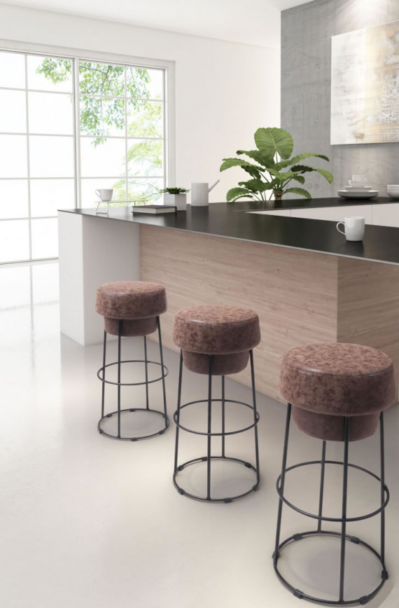 find a low priced bar stool made of faux leather at AdvancedInteriorDesigns.com
