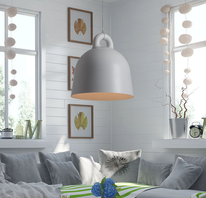 zuo modern hope ceiling lamp white