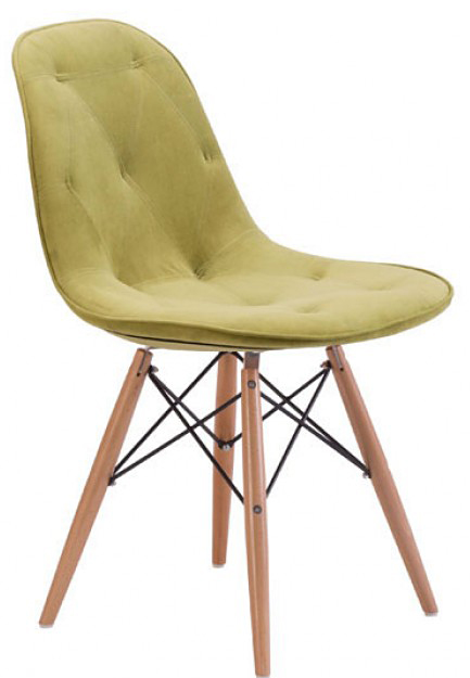 brand new probability 104156 green dining chair by zuo