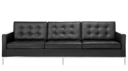 Black Leather Florence Sofa