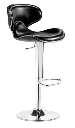 Fly Bar Stool in Black by Zuo Modern