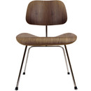 Molded Plywood Dining Chair W/Metal Legs - Walnut