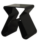 Acrylic Magino Style End Table Black