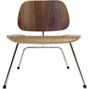 Molded Plywood Lounge Chair W/Metal Legs - Walnut