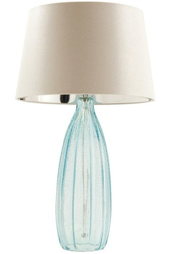 Bexley Aqua Glass Table Lamp