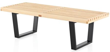 Nelson Style Slat Hardwood Bench