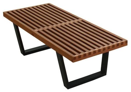Hardwood Platform Bench Walnut